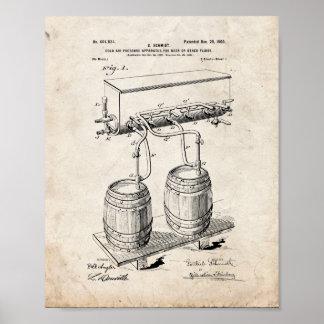 Kall-luft-pressa apparaturen för öl eller annan poster