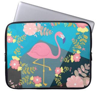 Kall moderiktig chic gullig blom- Flamingo för Laptopskydd Fodral