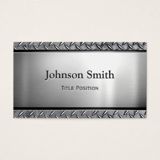 Kall mörk rostfritt stål med diamantmetallLook Visitkort