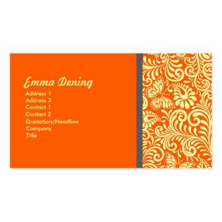 Kall orange för elegant set av standard visitkort