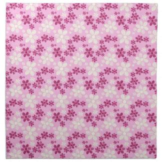 Kall orientalisk flickaktigt daisyblommablommönste tygservett