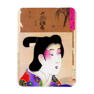 Kall orientalisk japansk konst för magnet