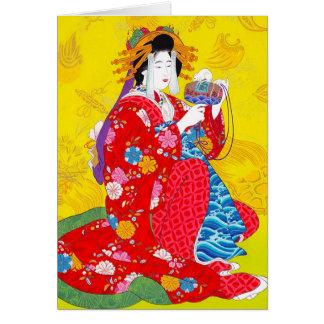 Kall orientalisk japansk konst för OBS kort