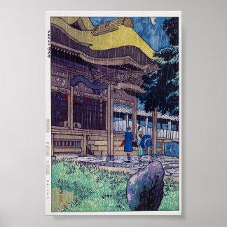 Kall orientalisk japansk Shiro Kasamatsu regnig Poster