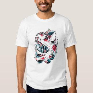 Kall orientalisk japansk tatuering för fisk för tröja