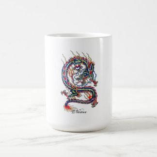 Kall orientalisk röd drake med Orbtatueringen Kaffemugg