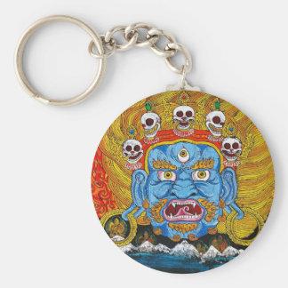 Kall orientalisk tibetan konst för thangkademontat rund nyckelring