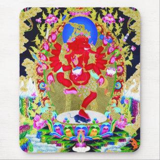 Kall orientalisk tibetan konst för thangkagudtatue musmattor