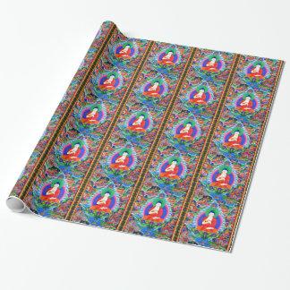 Kall orientalisk tibetan mandala för presentpapper