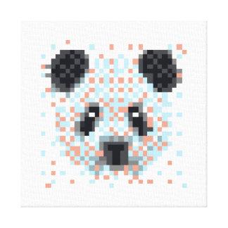 Kall PandaPIXELkonst Canvastryck
