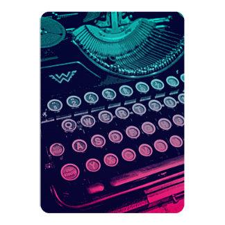 Kall Retro konst för vintageskrivmaskinspop 12,7 X 17,8 Cm Inbjudningskort