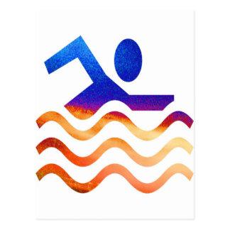 Kall simningframgång - vara besvärad i varma tider vykort