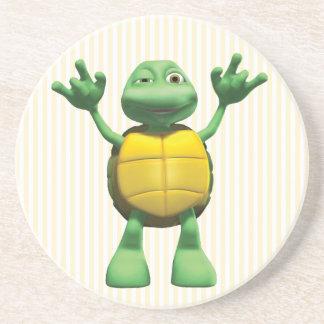 Kall sköldpadda underlägg sandsten