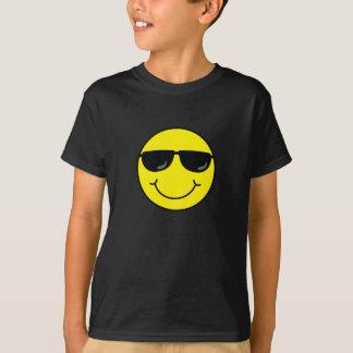 Kall smiley face med solglasögon t-shirt