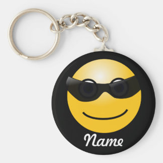 Kall Smileypersonlignyckelring Rund Nyckelring