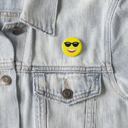 Kall solglasögon Emoji Mini Knapp Rund 3.2 Cm