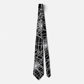 Kall spöklik spindelnätsatängslips slips