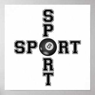 Kall sportBilliardkor Poster