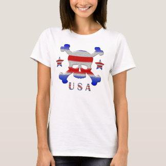 Kall stjärnor & randskalle patriotiska USA Tröja