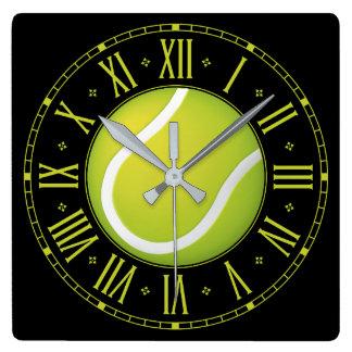 Kall tennisboll | Time för sportar Fyrkantig Klocka