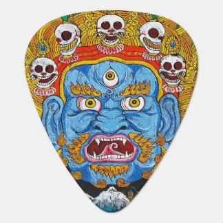 Kall tibetan konst för tatuering för gitarr plektrum