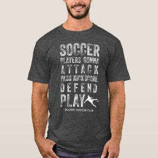 Kall vintage bedrövad fotbollordpersonlig tee shirts