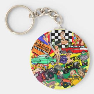 Kall vintage bilar nyckel ringar