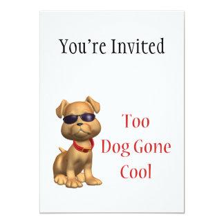 Kall vovve för hund väck 12,7 x 17,8 cm inbjudningskort