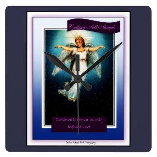 Kalla all änglar fyrkantig klocka