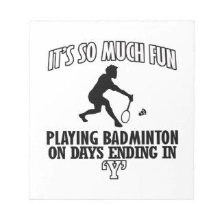 kalla BadmintonDESIGNER Anteckningsblock