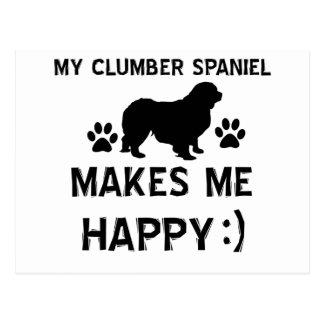 Kalla designer för hund aveln för Clumber Spaniel Vykort