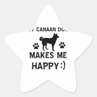 Kalla designer för Kanaan hundhund aveln Stjärnformat Klistermärke