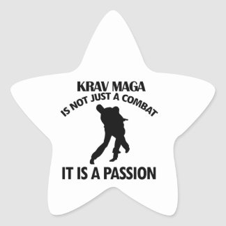 kalla DESIGNER för KRAV MAGA Stjärnformat Klistermärke