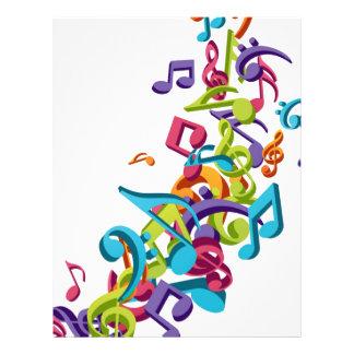 kalla färgglada musik noter och ljud reklamblad 21,5 x 30 cm