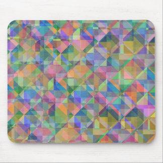 Kalla färgglada trianglar kvadrerar formar överdra musmatta