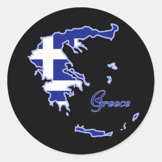 Kalla Grekland Rund Klistermärke