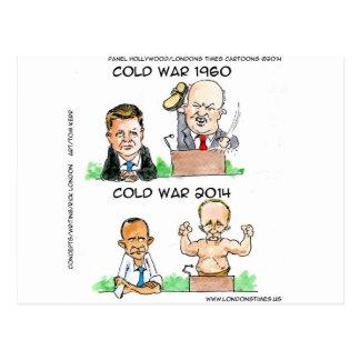 Kalla kriget av roliga 1960 och 2014 vykort