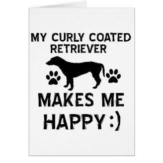 Kalla lockiga bestrukna Retrieverhund Hälsningskort