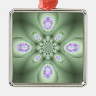 Kalla moderna Petals för gröntabstraktlavendel Julgransprydnad Metall