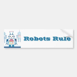 Kalla noveltyer för blåttrobotgåvor bildekal