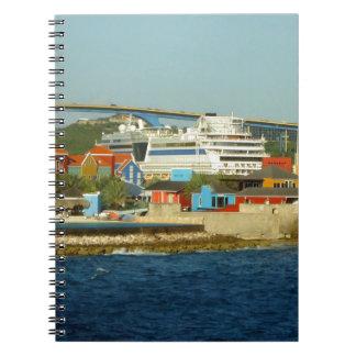 Kalla på Curacao Anteckningsbok Med Spiral