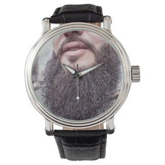 Kalla skägg- & mustaschklockor armbandsur
