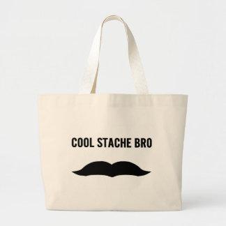 Kalla Stache Bro Tote Bags