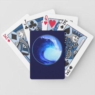 kalla surfastilblått vinkar spelkort