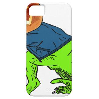 Kalla T-Rex med ett jack o lanternhuvud iPhone 5 Skal