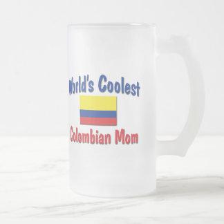 Kallast colombiansk mamma frostat ölglas