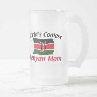 Kallast kenyansk mamma frostat ölglas