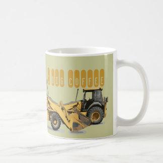 Kallast konstruktionsgrävskopagrävare kaffemugg