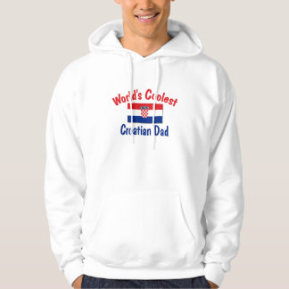Kallast kroatisk pappa tröja med luva