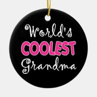 Kallast mormor för världar julgransprydnad keramik
